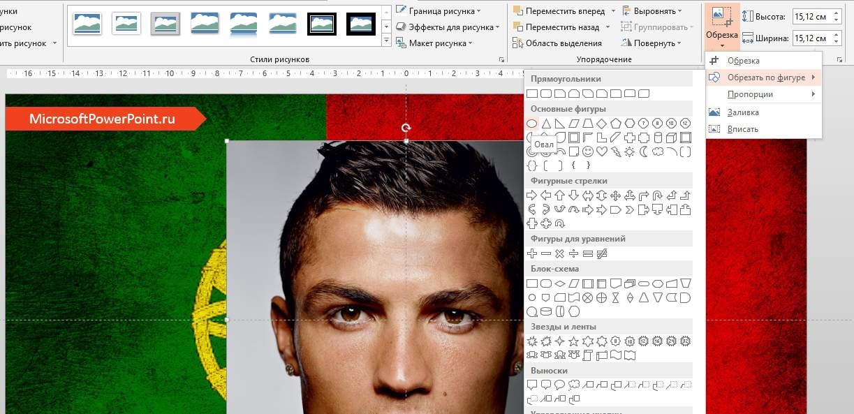 Как сделать идеально круглую картинку (изображение) без искажений в презентации PowerPoint